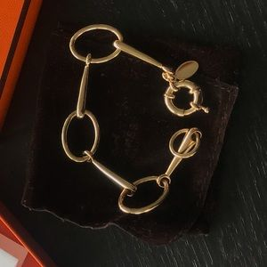 Gold (not solid) dress bracelet in horse design
